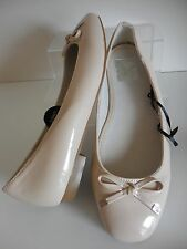 Nude Patent Leather Lined Pumps Size UK 8 Wide Fit New With Tags From Evans