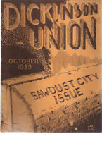 DICKINSON UNION School (Williamsport PA) October 1939 Sawdust City Issue