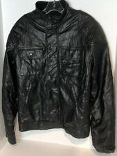 CONVERSE ONE STAR Men's Size S Black Faux Leather MOTORCYCLE JACKET 1 AWESOME