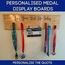 Personalised Quote Medal Wall Display Wood Medal Board Medal Display