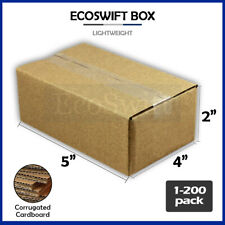 1 200 5x4x2 Ecoswift Cardboard Packing Mailing Shipping Corrugated Box Cartons