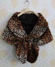 Women Faux Mink Fur Shawl Vest Shrug Coat Capelet For Weddings Evening Gown Cape