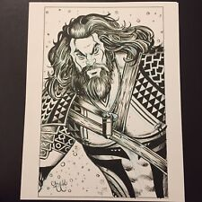 Aquaman Jason Momoa Version Original Art by Chris Mcjunkin Justice League