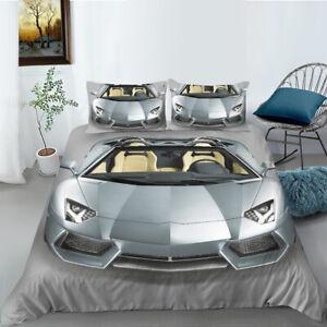 Lamborghini Sports Car Quilt/Duvet/Doona Cover Set Single Double Queen Size