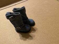 Blythe Doll Engineer Boots Blue Suede
