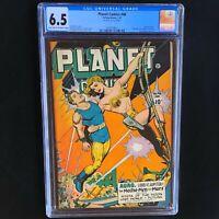 PLANET COMICS #46 (Fiction House 1947) 💥 CGC 6.5 💥 Golden Age Bondage Cover!