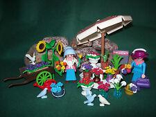 Playmobil Nostalgie/rosa Serie Blumenstand, ähnlich 5343-A/1996, ohne OVP!