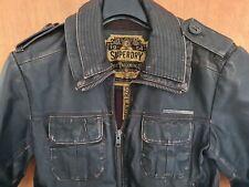 Men's Superdry Leather Jacket Size L Slim Fit *good condition *