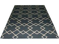Wool Rug Flat Weave West Elm Kite Kilim Dhurrie Modern Oriental 5' X 8'