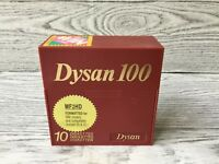 Dysan 100 Diskettes MF2HD Formatted for IBM and Compatables 10 Blank Disks NIB