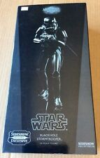 "STAR WARS: BLACKHOLE STORMTROOPER (2010) 12"" Sideshow 1/6 Scale; Mint in Box"