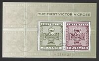 AUSTRALIA 2015 THE FIRST VICTORIA CROSS SOUVENIR SHEET OF 2 STAMPS IN FINE USED