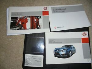 VAUXHALL VECTRA C OWNERS DRIVERS HANDBOOK SERVICE BOOK WALLET PACK