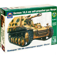Scale 1:35 Sd.Kfz.124 Wespe German WWII Self-propelled Gun Tank Model Kits