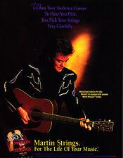 1996 Marty Stuart photo Martin Guitar D-45 & Strings promo print ad