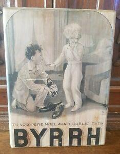 Plaque en bois BYRRH