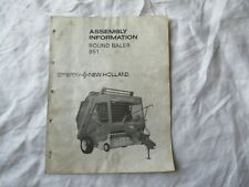 New Holland 851 round baler assembly information service manual