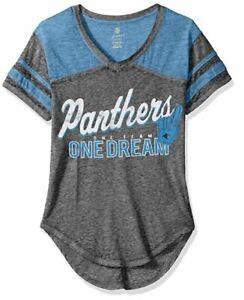 NFL Junior Girls Vintage Short Sleeve Football T- Carolina Panthers - L (11/13)