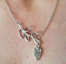 SUPER SALE! Lariat Owl Necklace with Leaf Design!