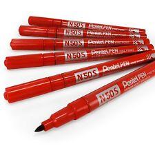 Pentel N50S Fine Permanent Marker – 3.18mm Bullet Tip – Pack of 6 - Red