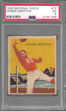 1935 National Chicle #13 HOMER GRIFFITHS Cardinals PSA 5 EX