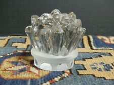Vintage Cristal Severs France Clear Glass Frosted Paperweight Excellent!