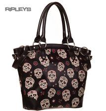 Banned clothing pvc gothique sac à main noir mesmerize sugar skulls sac