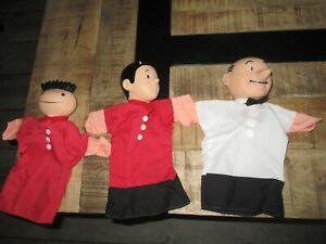 Vandersteen-Lot 3 marionettes publicitaire-Lessive Dash-Bob et Bobette-TBE