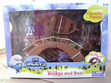 Smurfs Movie Magic Moments Figure Gift Packs/Smurf Village Bridge & Boat-New