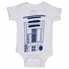 Star Wars R2-D2 White Infant Baby Romper, White (0-6 Months) - New