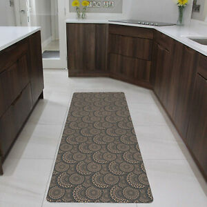"""Runner Mat Ultra-Thin Kitchen Rug with Non Slip Rubber Backing 60x23"""" Cappuccino"""
