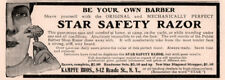 AD LOT OF 2 1903 A 1904 A -1914 PRINT ADS  STAR CRU STEEL RAZOR KAMPFE BRO