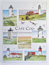 Lighthouses Art Realism Cape Cod Artwork Landscape Signed Numbered PJ Cook