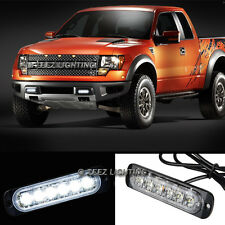 1X White 6 LED Emergency Hazard Flash Warning Caution Beacon Strobe Light Bar#16