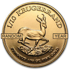 Random Year 1/10 oz Gold South African Krugerrand Coin