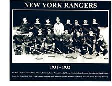 1931 1932 NEW YORK RANGERS 8X10 TEAM  PHOTO  HOCKEY NHL USA HOF