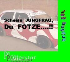 Scheiss Jungfrau Fotze New Kids Sprüche Aufkleber Sticker Fun Maaskantje Junge