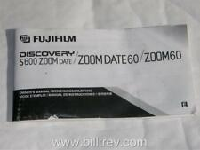 Fujifilm S600 Zoom Date 60 Camera Instruction Manual
