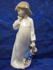 My Rag Doll Porcelain - Sleepy Girl With Teddy Bear Nao By Lladro 1108