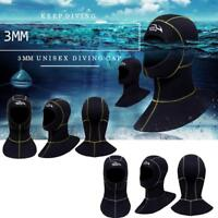 3mm Neoprene Scuba Diving Cap Swimming Warm-keeping Wetsuit Snorkeling Hat Hood