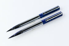 Pierre Cardin Blue/Chrome Ballpoint Pen and Pencil Set
