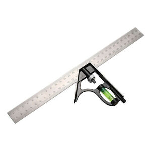 """300mm 12"""" Adjustable Engineers Combination Try Square Set Right Angle Ruler UK"""