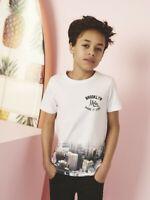 NAME IT Jungen T-shirt NKMSonny weiß Brooklyn Skyline Größe 122/128 bis 158/164