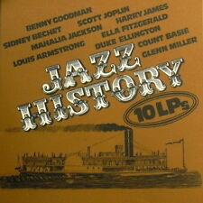 "12"" Box 10 LP`s Jazz History (Count Basie, Sidney Bechet) Archiv Of Jazz"