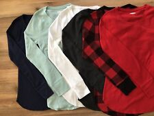 Old Navy Women's Long Sleeve Thermals - Waffle Knit - Mult. Sizes Colors - NWT