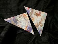 Original Artwork Signed by Artist Full Size 10x10, Separates into Two Triangles