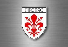 Autocollant sticker voiture blason ville drapeau ecusson florence italie firenze