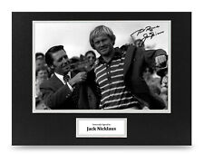 Jack Nicklaus Signed 16x12 Photo Display Masters Autograph Memorabilia + COA