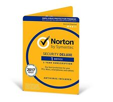 Norton Security Deluxe (Including Antivirus) 3.0 - 1 User, 1 Devices,  12 Months