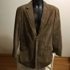 CABELAS Men's 42 Tall 100% Genuine Suede Leather Blazer Sport Coat Western